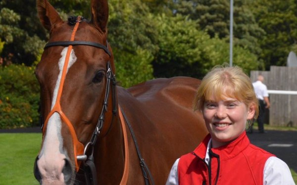 Ellie Cross leading up at the races