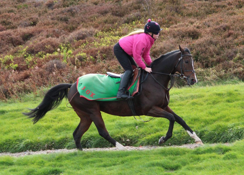 Ellie riding out for Jedd O'Keeffe