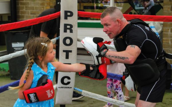 Boxing training at Catterick Family Day