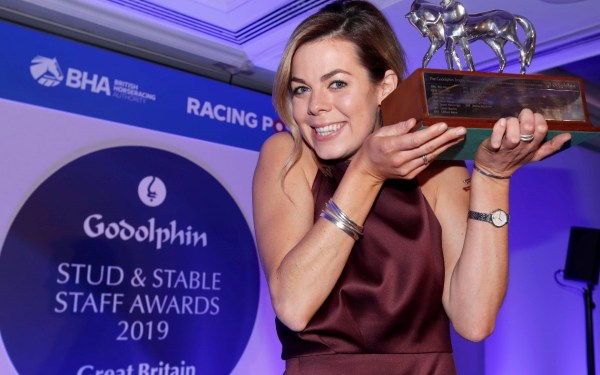 Catriona Bissett - Employee of the Year and winner of the leadership award at the 2019 Godolphin Stud and Stable Staff Awards