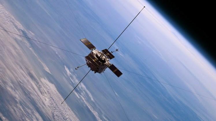 Concepção artística de uma das Van Allen Probes, lançadas em 2012. Imagem fonte: NASA