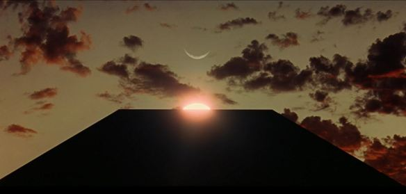 Vertical-alignment-view-of-moon-sun-and-slab-from-Stanley-Kubricks-2001-A-Space-Odyssey