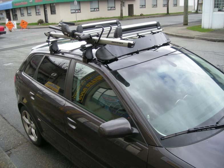 2008 audi a3 thule roof rack bike