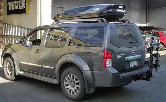Nissan pathfinder bike roof rack