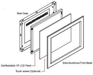 ID-H15A : 6mm Aluminum Front Bezel 15