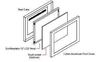 ID-H15D : 1.2mm Aluminum Front Bezel 15