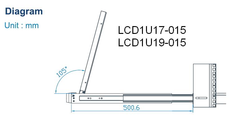 LCD1U19-015 1U Rackmount 19