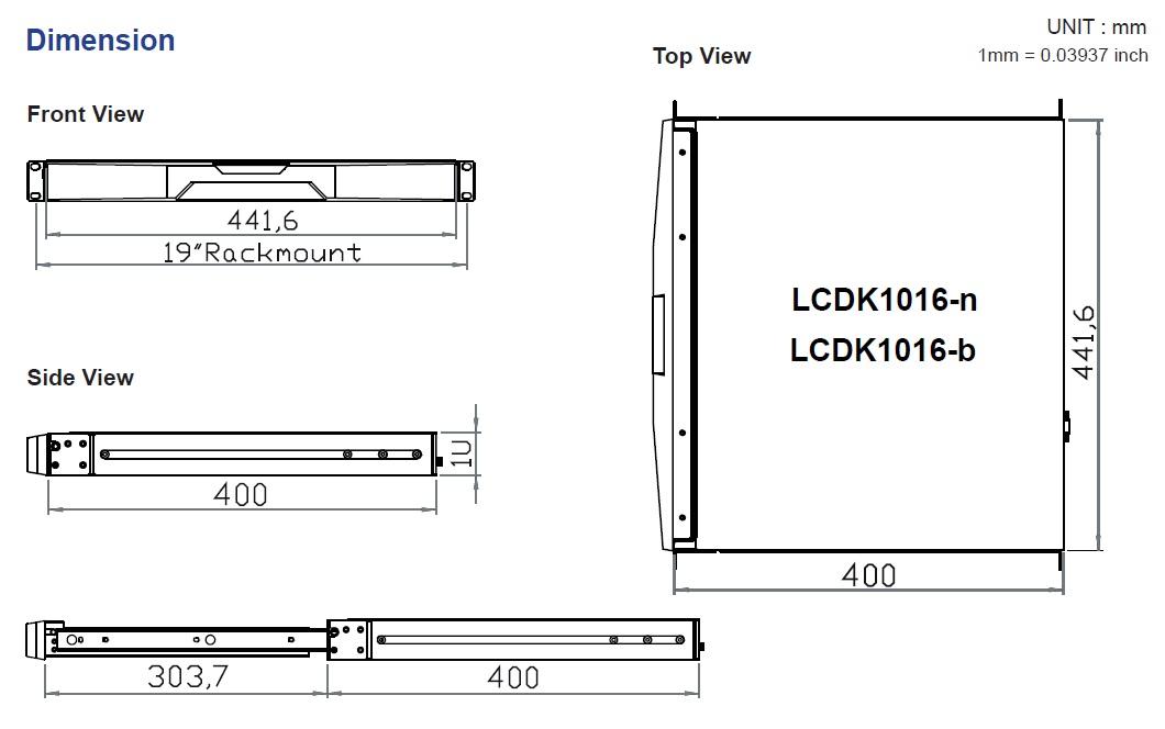 lcdk1016 rack mount keyboard drawer