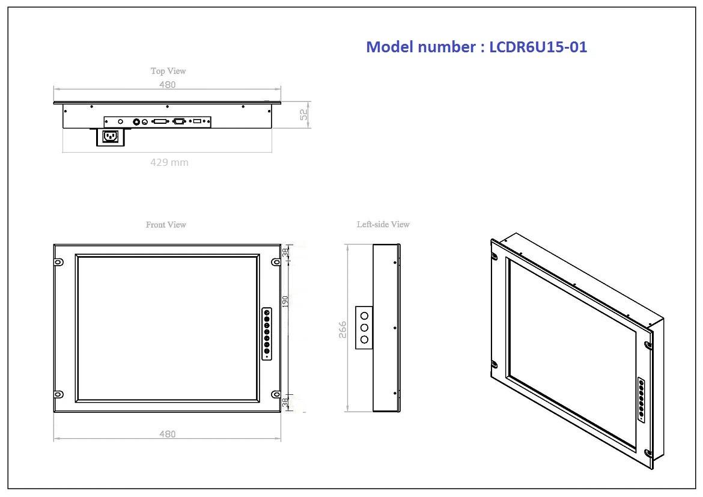 LCDR6U15-01 6U Rackmount 15