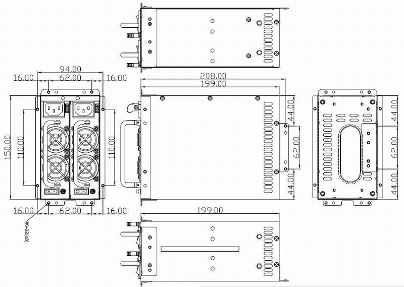 PS3030 High Efficiency 600W Mini Redundant Power Supply for 4U