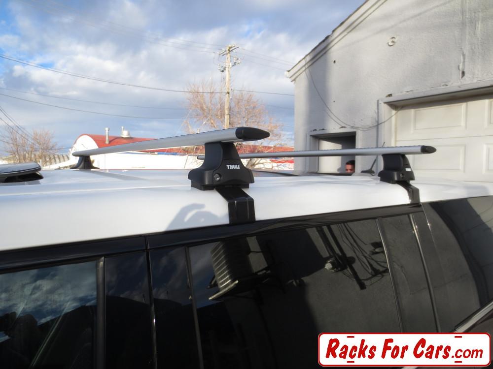 ford flex roof racks and ski box