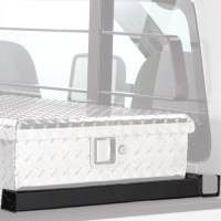 BackRack Cab Window Guard Headache Rack with Toolbox Mount