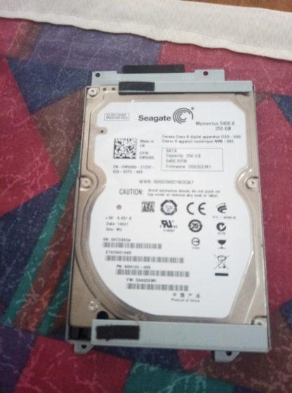 Σκληρός δίσκος seagate 250 GB 2.5 ιντσών μεταχειρισμένος