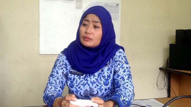 Kepala Seksi POS dan Telekomunikasi Dishubkominfo Kota Serang, Eka Purwanti