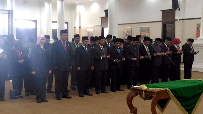 Pelantikan 25 pejabat Pemerintah Provinsi Banten