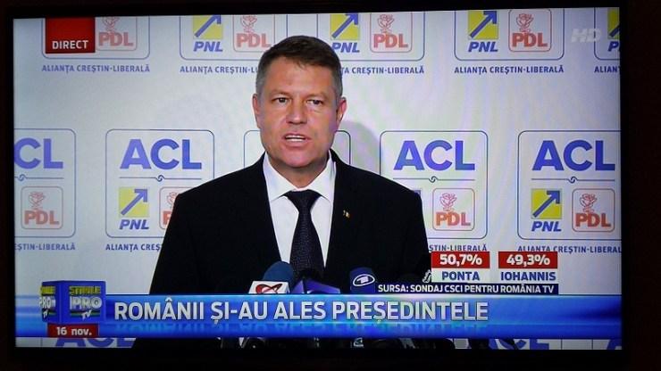 Exit poll ponta iohannis pro tv