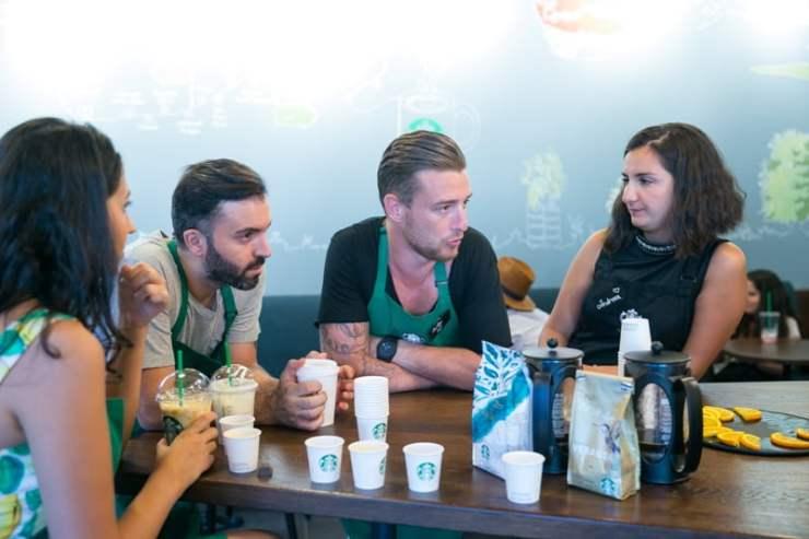 George (Deepcentral), Mihai Chitu & Andreea Francu (Starbucks)