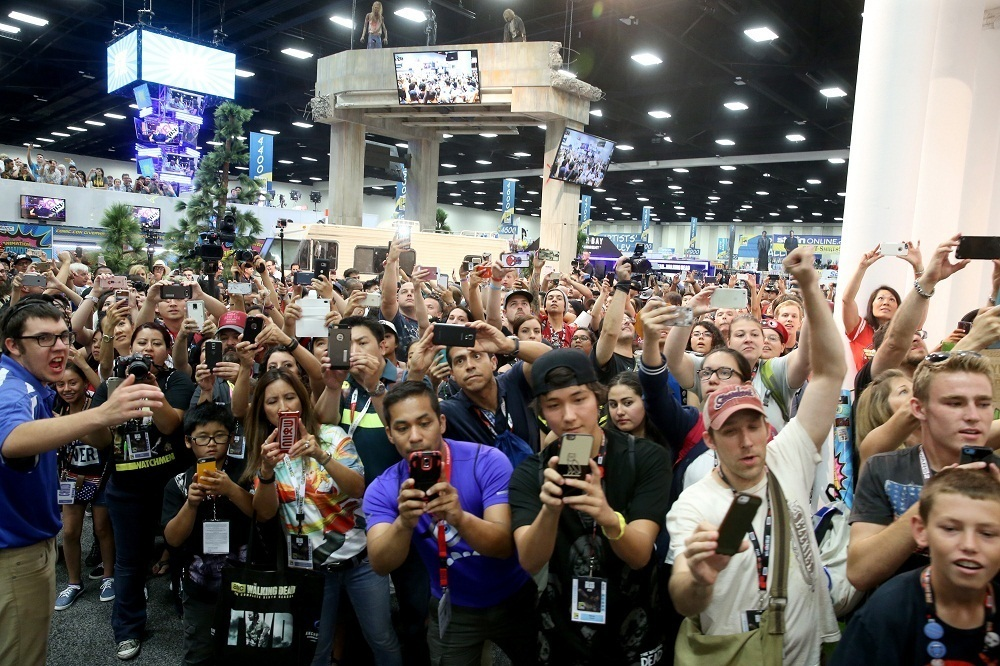 SAN DIEGO, CA - JULY 22:  Fans wait for autographs during Comic-Con International 2016 at San Diego Convention Center on July 22, 2016 in San Diego, California.  (Photo by Jesse Grant/Getty Images for AMC)