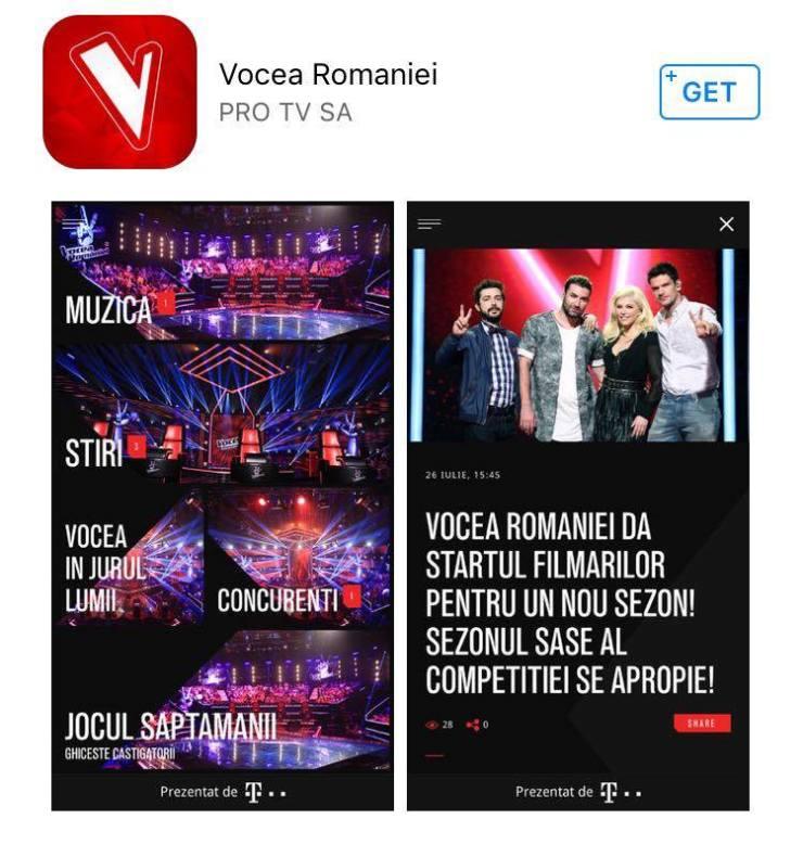 aplicatia Vocea Romaniei (1)