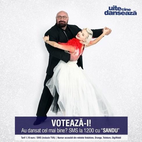 Sandu Lungu si Raluca Netca UITE CINE DANSEAZA PRO TV