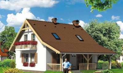 proiecte case mici cu mansarda