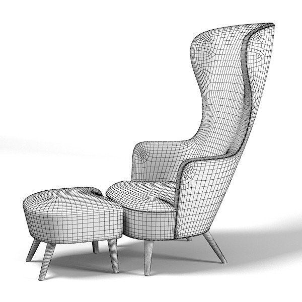 tom dixon wing back chair design review radar » wingback footstool modern contemporary high tall designers ...