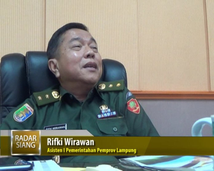 Rifki Wirawan Asisten I Pemerintahan Pemprov Lampung