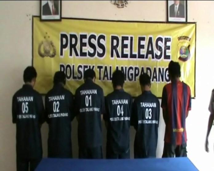 Lagi Asik Mancing, 6 Pemuda Ditangkap