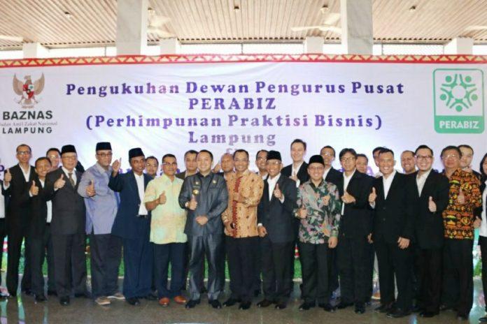 Akhirnya Resmi DPP Perabiz Dikukuhkan Oleh Gubernur Lampung