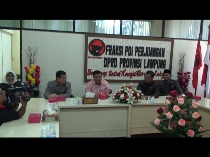 Sambangi Fraksi Pdi Perjuangan,Oedin Intruksi Kadernya Kritis Terhadap Pemerintahan