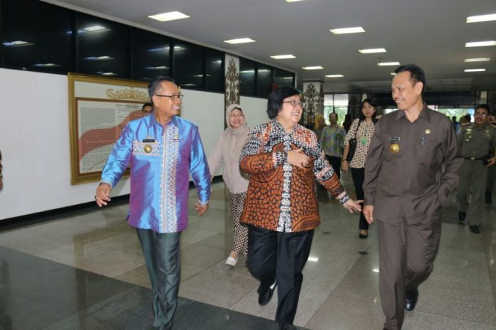 Ada Apa Mentri Siti Nurbaya Temui Jajaran Pegawai Pemprov Lampung