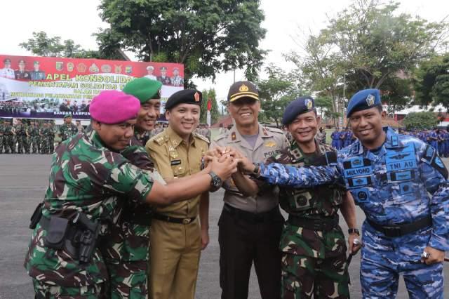 Apel Konsolidasi Gubernur-TNI-Polri Ajak Anggota Untuk Menjaga Netralitas