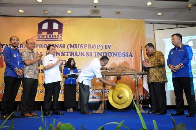 Aspekindo Dorong Pelayanan Kepada Pemerintah Lampung Untuk Turut Menyukseskan Pembangunan