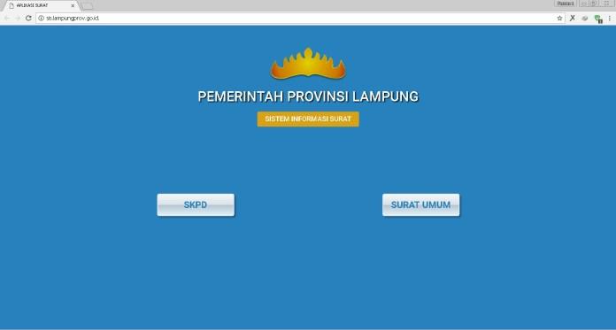 Pemprov Lampung Luncurkan Aplikasi Sistem Informasi Surat Menyurat Secara Online