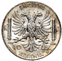 Albanian-10-leke-piece