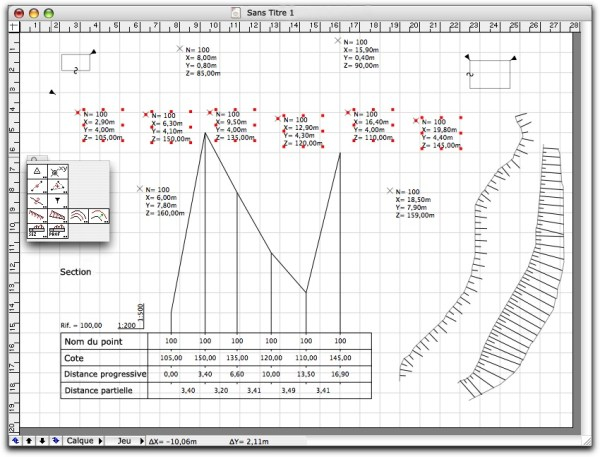 Outils topographiques plugin powercadd