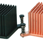 Round Pin Heatsinks with pushpins