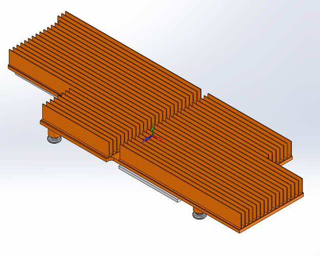 Copper heatsink for PCIe Add-On card