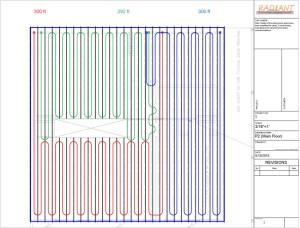 Tubing Layout Service | | DIY Radiant Floor Heating | Radiant Floor Company