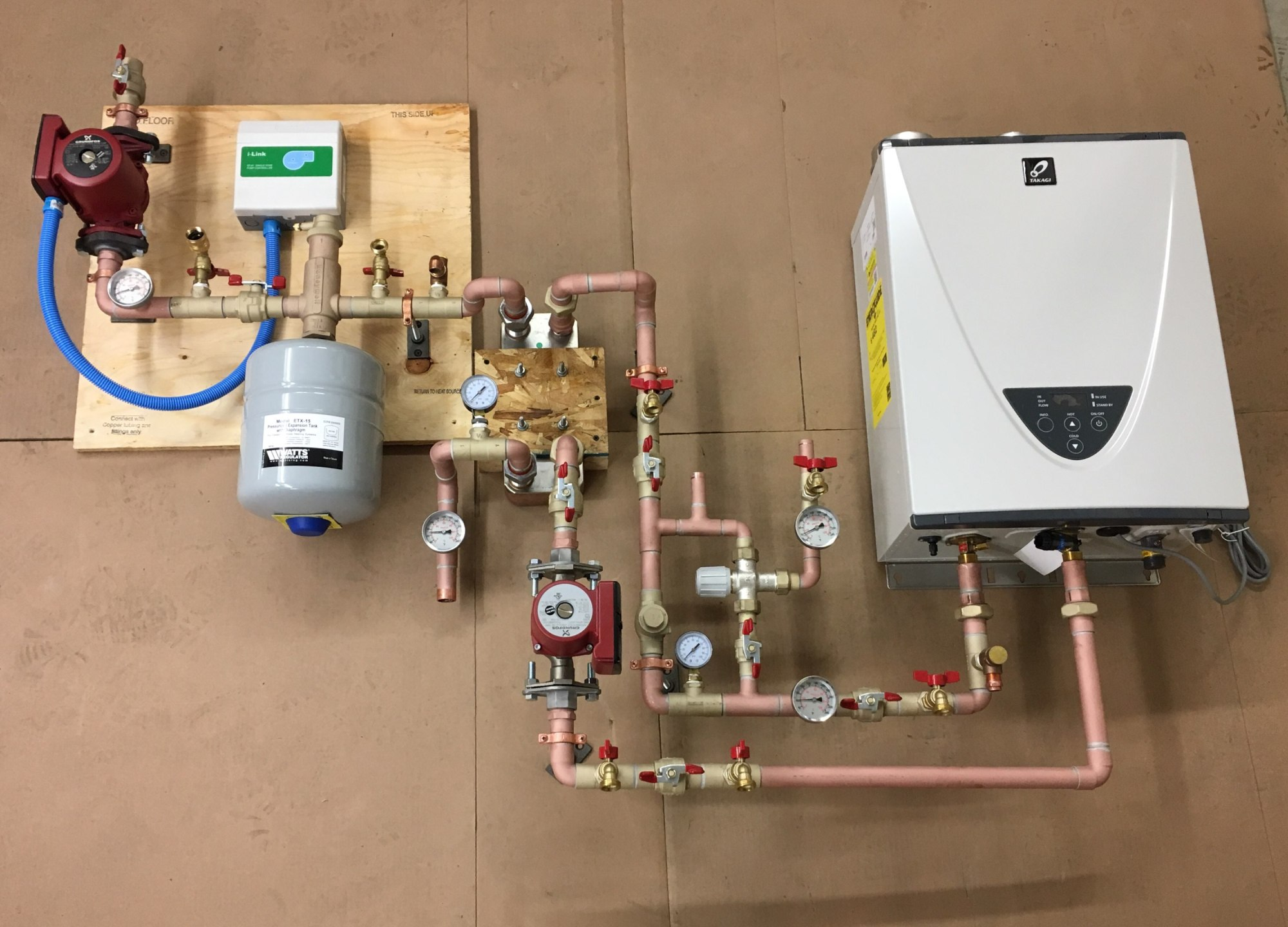 hight resolution of single zone heat exchange system with an on demand water heater