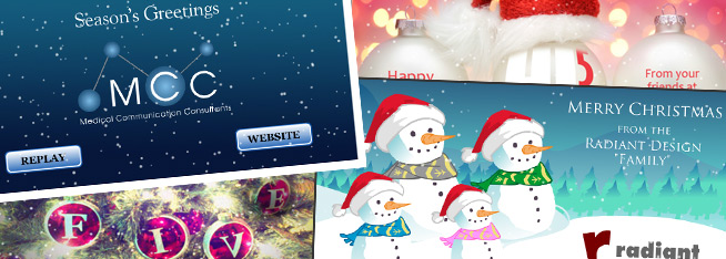 sending animated e cards instead of christmas cards