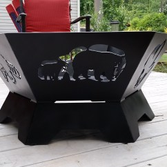 Personalized Kitchen Gifts Remodels On A Budget Custom Hexagon Fire Pit, Pit