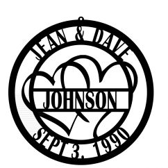 Personalized Kitchen Items Cabinets Accessories Family Name Sign With Hearts Established Year ...