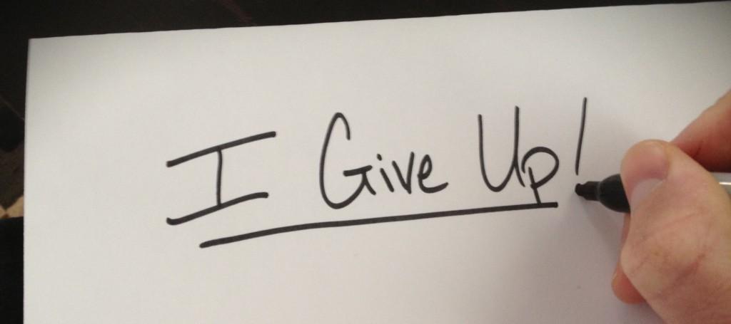 När ska jag ge upp?  Bild