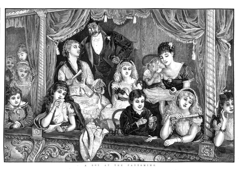 19th century pantomime audience