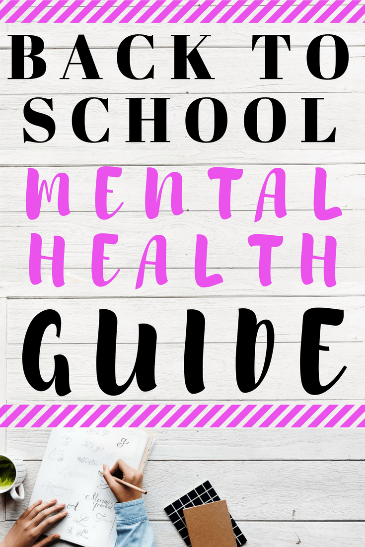 Mental health back to school guide to help you manage depression and anxiety symptoms in school #depression #anxiety #mentalhealth
