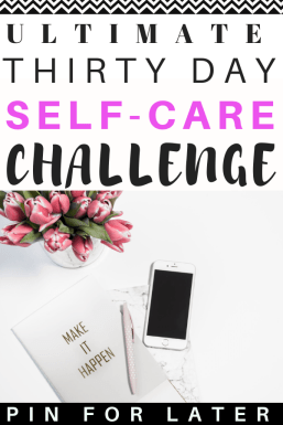 30 day self-care challenge! Check this out for self-love journaling, routines and tips. #selfcare #selflove #mentalhealth