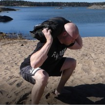 Squat with Sandbag