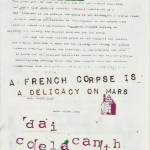 Dai Coelacanth – A French Corpse is a delicacy on Mars