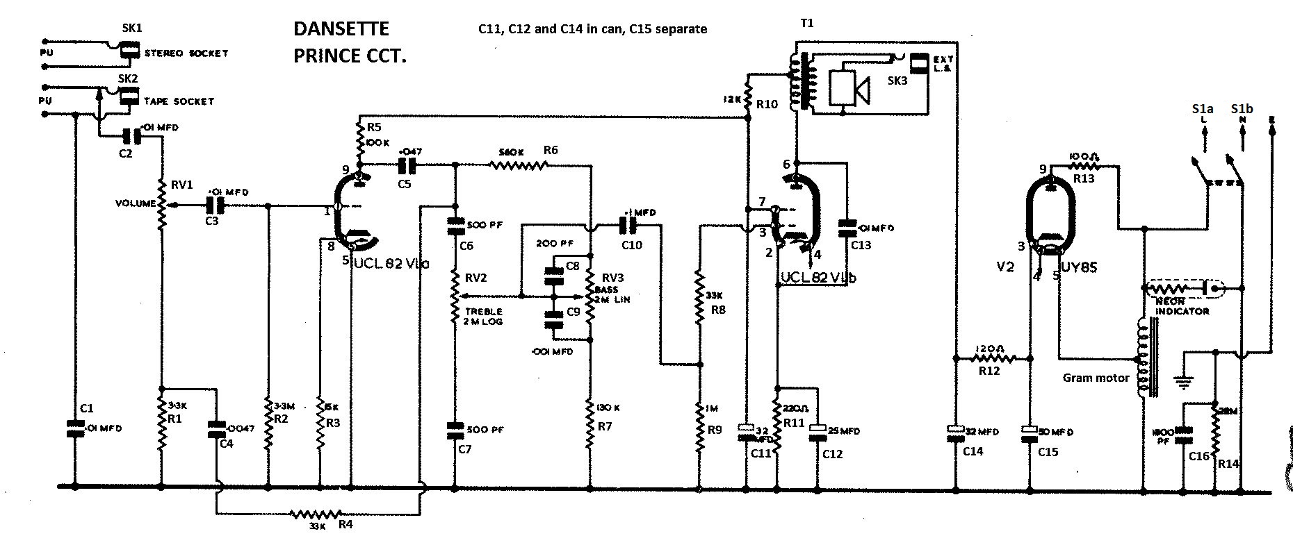 Record Player Wiring Schematic